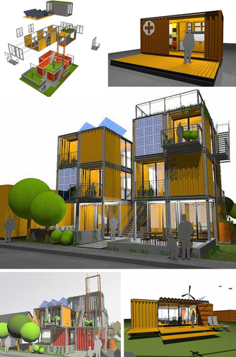 parking houses: modular housing to fit on city parking spaces