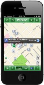Parker smartphone app