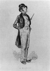 Paul Gavarni, Le Flâneur, 1842.