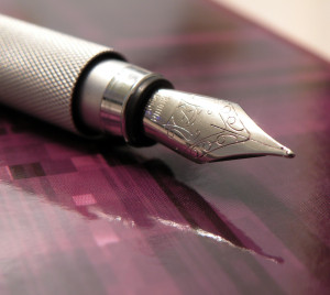 Muji fountain pen. I have one of these.
